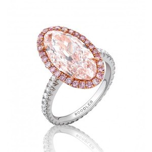 Boodles Oval Pink Diamond Ring